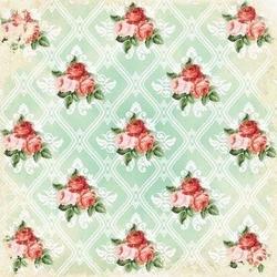 Papier 20,3x20,3 Shabby Chic small roses - 1 szt. - 166