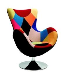 Fotel tapicerowany butterfly patchwork