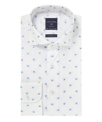 Biała koszula profuomo typu oxford w kwiaty 37
