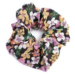 Gumka do włosów scrunchies kwiaty kolorowa frotka