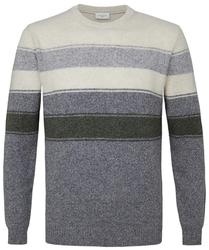 Sweter w szare paski s