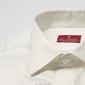 Elegancka śmietankowa ecru koszula z krytą listwą slim fit 40