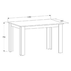 Stół do jadalni peano 2 120x80 białydąb artisan nowoczesny