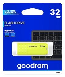 Goodram pendrive ume2 32gb usb 2.0 żółty