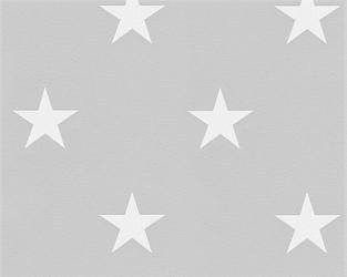 Tapeta szara białe gwiazdki 32521-2 top trend