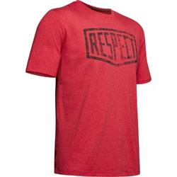 Koszulka męska under armour project rock graphic respect ss - czerwony
