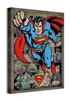 Komiksowy superman - obraz na płótnie