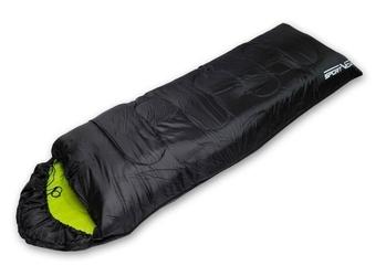 Śpiwór sv kołdra z kapturem czarno-zielon 0009