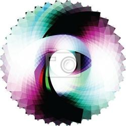 Naklejka streszczenie geometryczny wzór. wektorowe