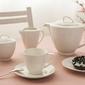 Serwis  zestaw kawowy na 6 osób porcelana mariapaula nova ecru 21 elementów