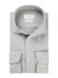 Męska koszula z dzianiny szary melanż 37