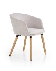 Krzesło skandynawskie z metalowymi nogami - tapicerowanre - k2663
