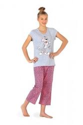 Piżama dziewczęca cornette famp;y 55617 panther szary