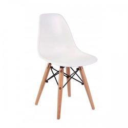Małe krzesełko krzesło dla dzieci dsw retro białe