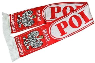 Szalik kibica polska czerwone litery