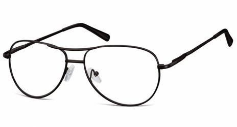 Okulary oprawki dziecięce zerówki pilotki mk1-49 czarne