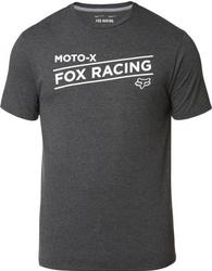 Fox t-shirt banner tech heather black