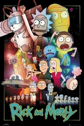 Rick and morty wars - plakat z serialu