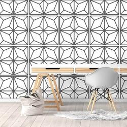 Diamentowa geometria - tapeta ścienna , rodzaj - próbka tapety 50x50cm