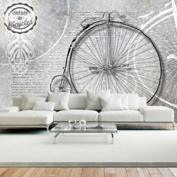 Fototapeta - vintage bicycles - black and white