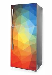 Naklejka na lodówkę kolorowe trójkąty p1041