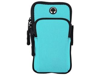 Etui torba armband opaska na ramię do telefonu alogy sportbag niebieskie - niebieski