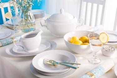 Zestaw obiadowy dla 6 osób porcelana mariapaula biała 23 elementy