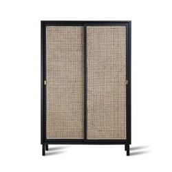 Hk living :: szafka z drzwiami przesuwnymi czarna