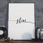 Plakat w ramie - minimalist shine , wymiary - 30cm x 40cm, ramka - czarna