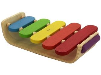 Kolorowe drewniane cymbałki
