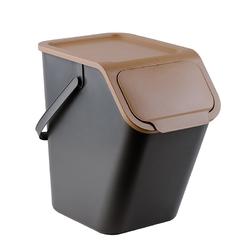 Kosz na śmieci do segregacji practic bini 25 l brązowy