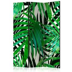 Parawan 3-częściowy - tropikalne liście room dividers