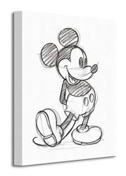 Mickey mouse sketched - single - obraz na płótnie