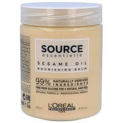 Loreal source nourishing balm, maska do włosów pozbawionych blasku 500ml