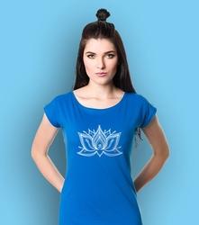Lotos pulpet t-shirt damski niebieski s