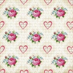 Papier 20,3x20,3 Shabby Chic small roses - 1 szt. - 163
