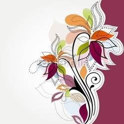 Obraz na płótnie canvas trzyczęściowy tryptyk kwiatowy tło