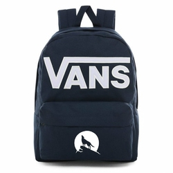 Plecak szkolny Vans Old Skool III Dress Blues-White - VN0A3I6R5S2 - Custom Wilk - Wilk