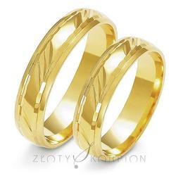Obrączki ślubne złoty skorpion – wzór au-a129
