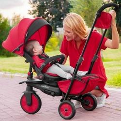 Składany rowerek dziecięcywózek, czerwony, smart trike