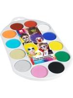Zestaw farb do malowania twarzy i ciała 12 kolorów