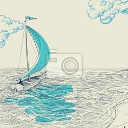 Plakat wektorowe sailing