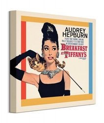 Audrey hepburn breakfast at tiffanys - obraz na płótnie
