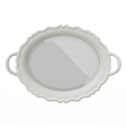 Qeeboo lustro plateau białe 41001wh