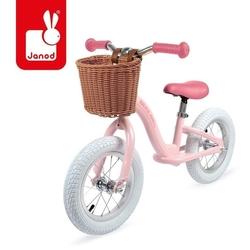 Rowerek biegowy bikloon vintage metalowy, różowy, janod 3 lata+