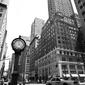 New york, zegar - fototapeta