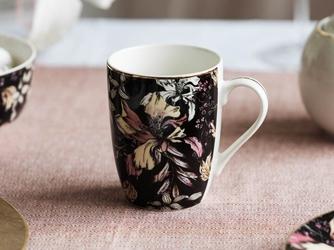 Kubek do kawy i herbaty porcelanowy altom design black lily 300 ml