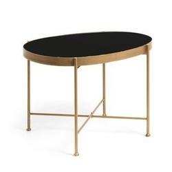 Szklany stolik illu 45x63 cm złoty
