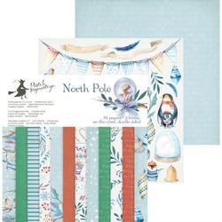 Świąteczny papier NORTH POLE 15,3x15,3 cm - zestaw