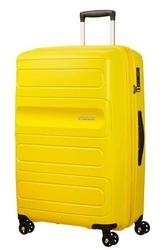 Walizka american tourister sunside 77 cm powiększana - yellow